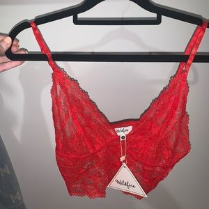 Wildfire Red Lace Bralette